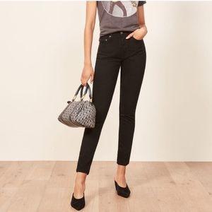 Reformation Melissa High & Skinny Jean in Black 27